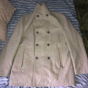 Michael Kors Wool PeaCoat Men's Large